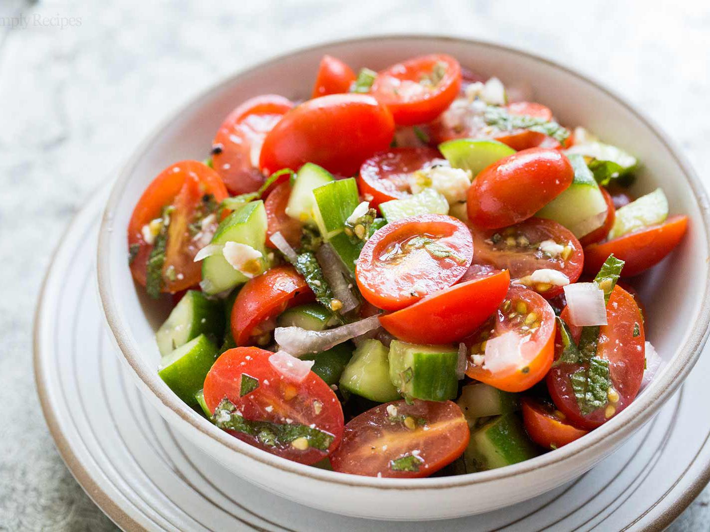 Greek Salad Recipe Tomato Cucumber Feta