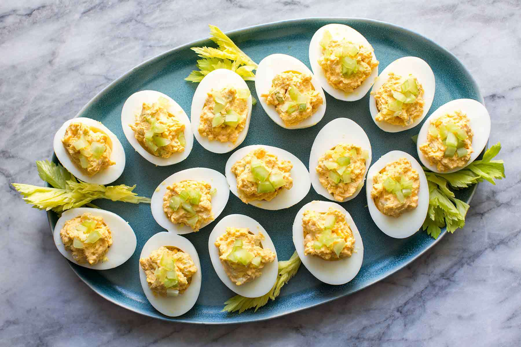 Deviled Eggs with Blue Cheese