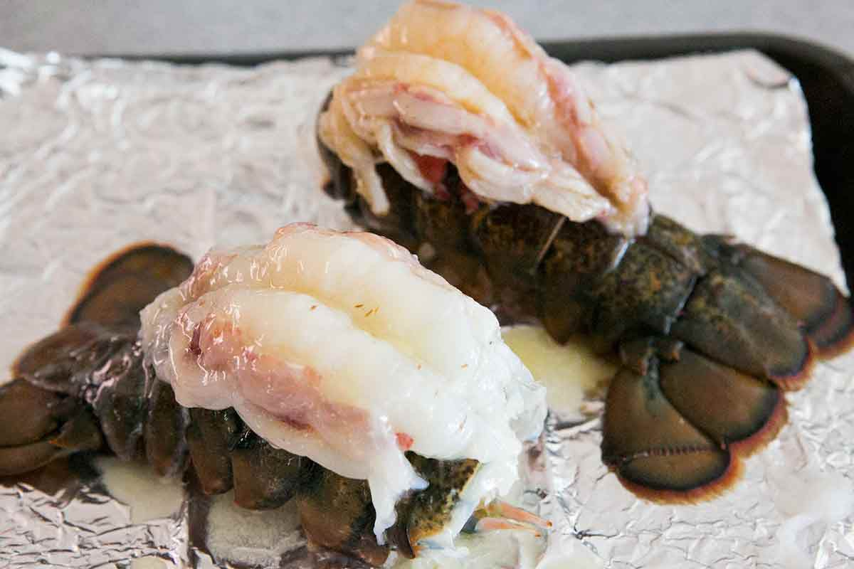 Lobster Meat with Brown Butter Sauce on Top
