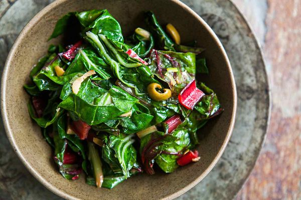 Swiss Chard with Olives
