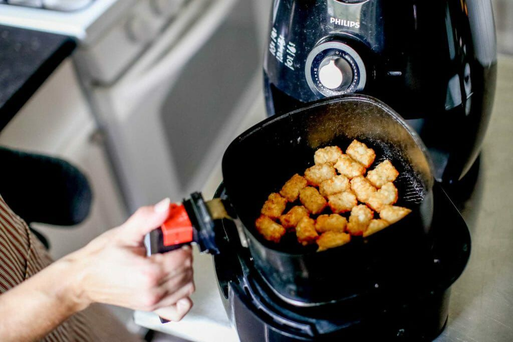 Air fryer basket for tips for using an air fryer