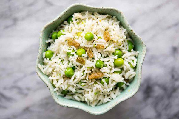 Basmati Rice Salad with Peas and Mint
