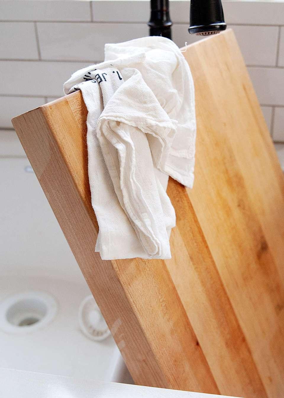 Dry cutting board thoroughly
