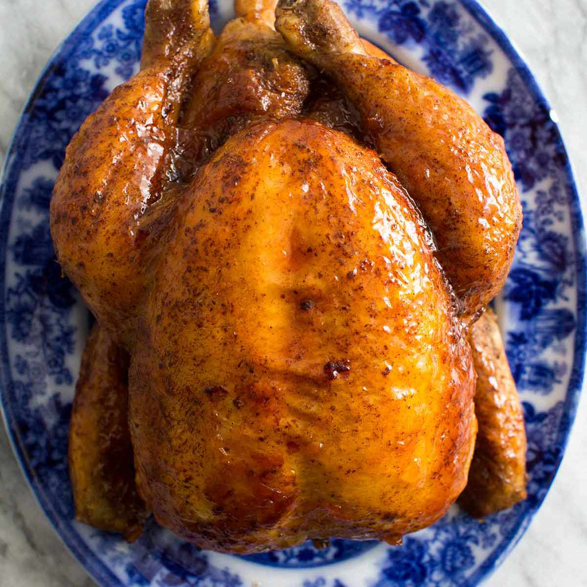 Roasted Chicken with Apricot Glaze