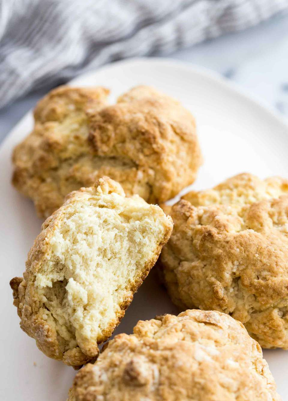 Shortcake Biscuits made with coconut oil and almond milk