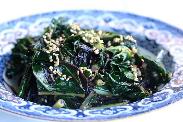 Sautéed Kale with Sesame and Ginger