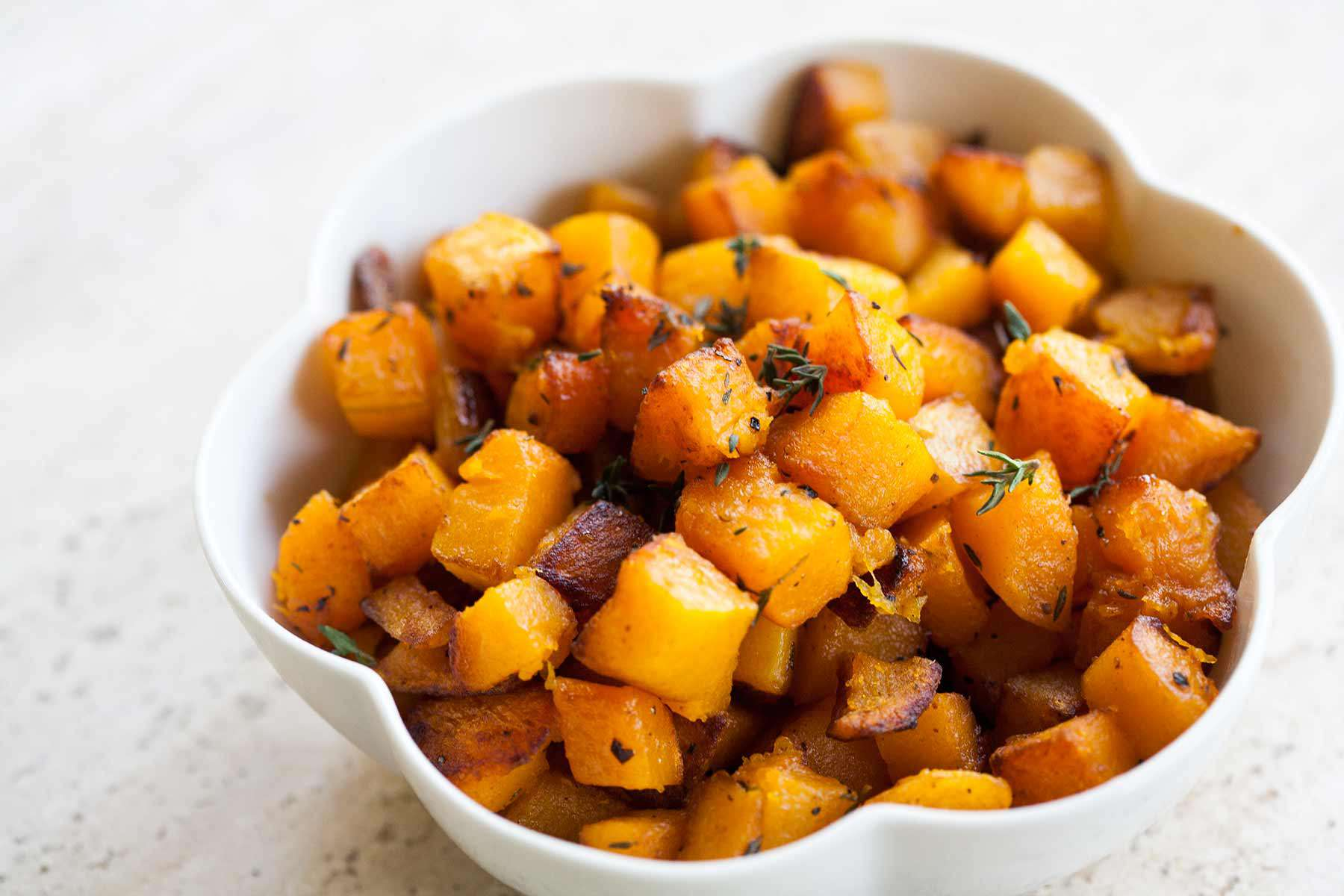 Butternut Squash with Browned Butter and Thyme