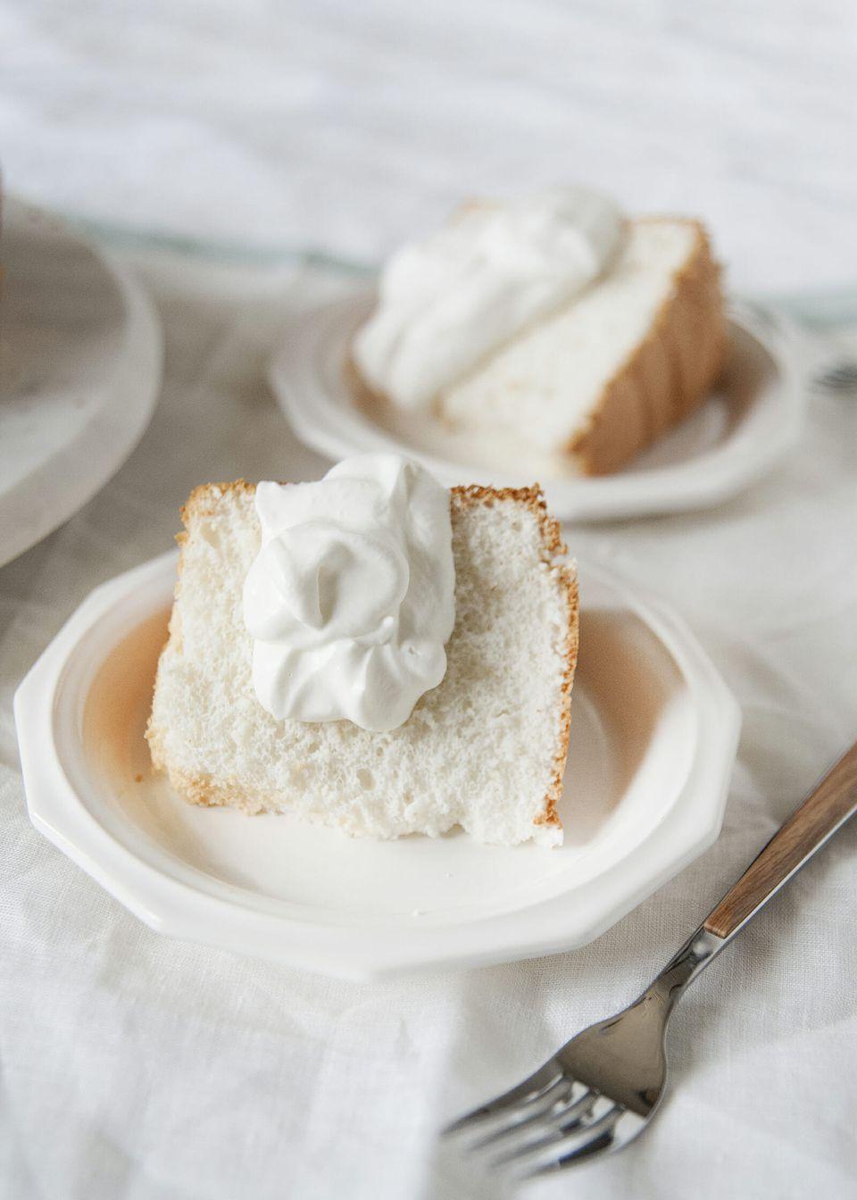 Homemade angel food cake