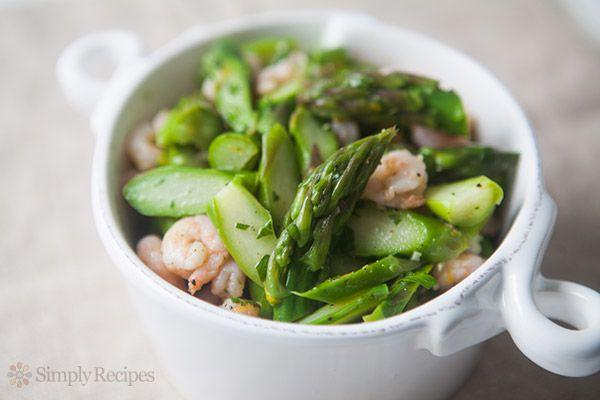 Asparagus Shrimp Salad on Simply Recipes