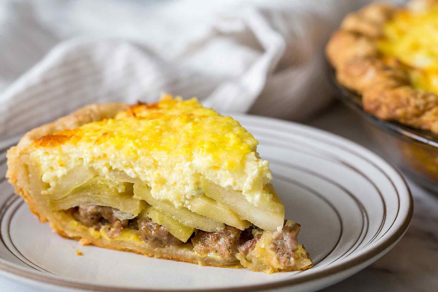Apple Sausage Pie