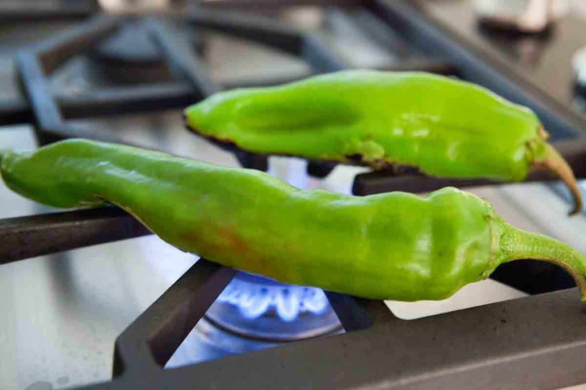 how to can salsa - roasting chilis