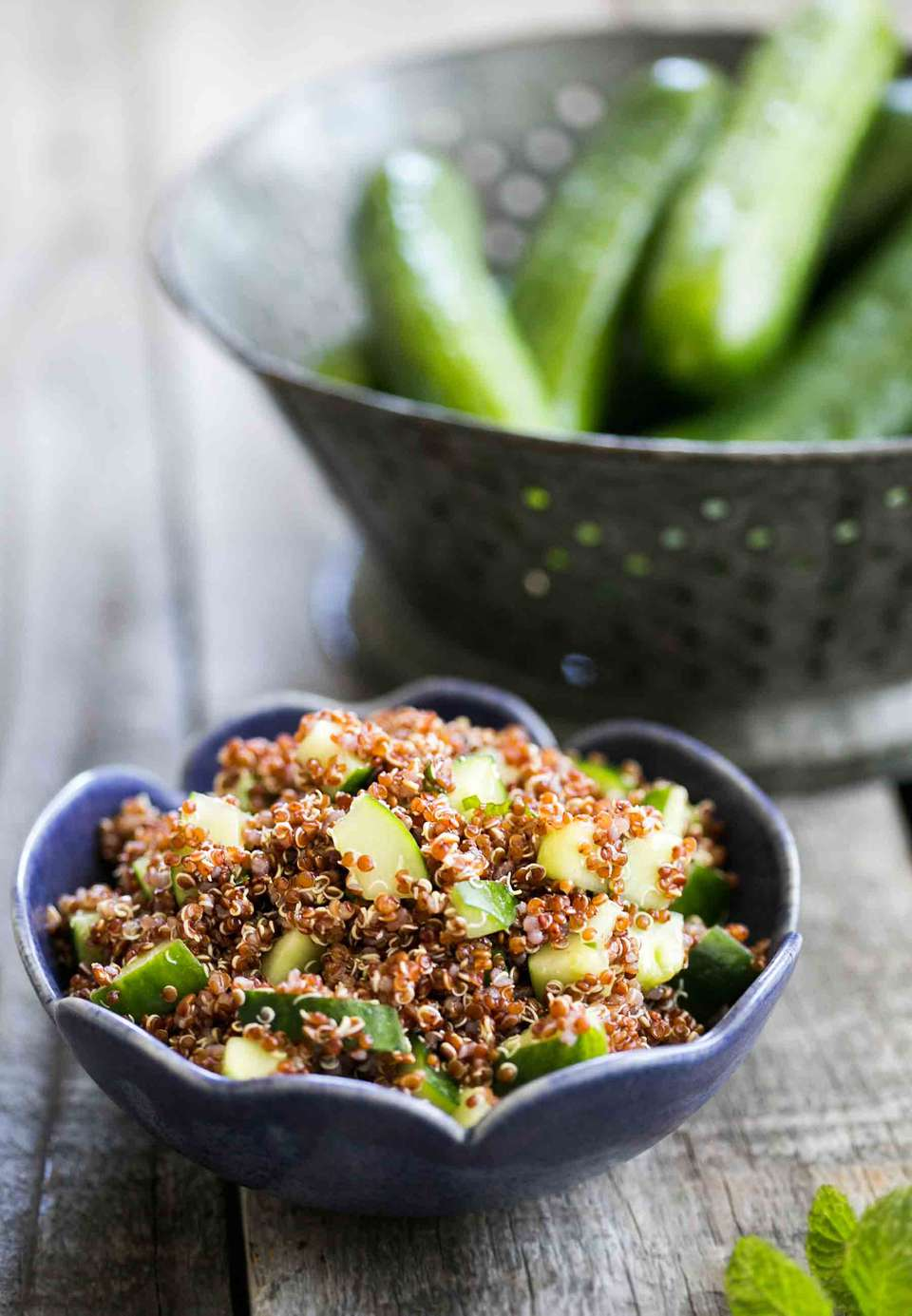 Cucumber Mint Quinoa Salad