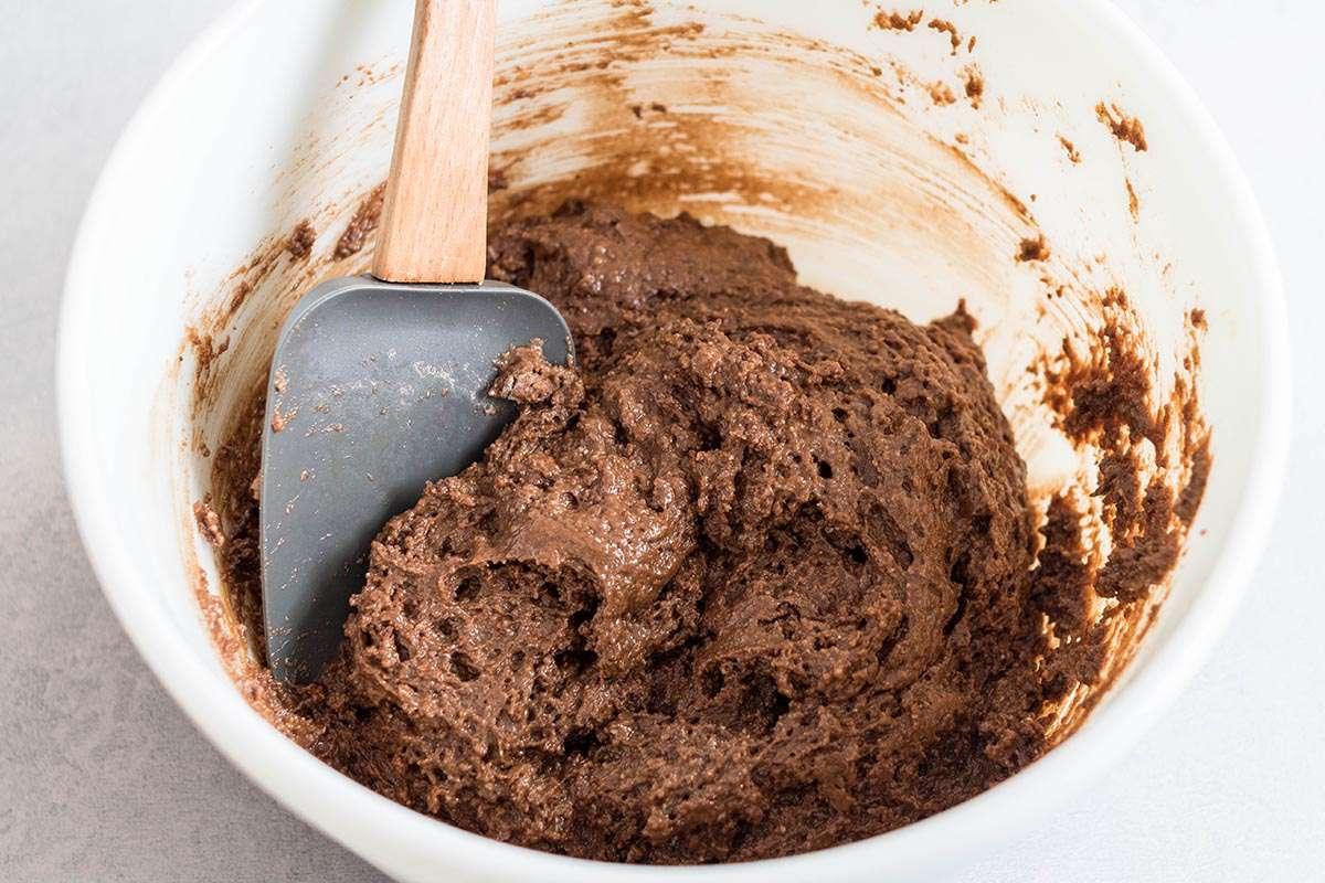 Chocolate Zucchini Cranberry Muffins