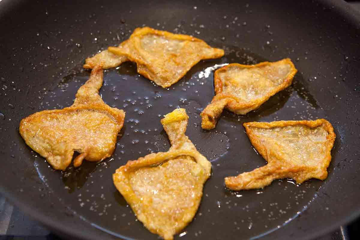 crispy chicken skin for tacos