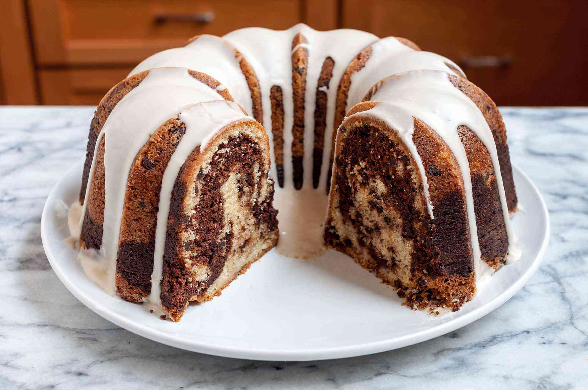 Vanilla Chocolate Marbled Bundt Cake