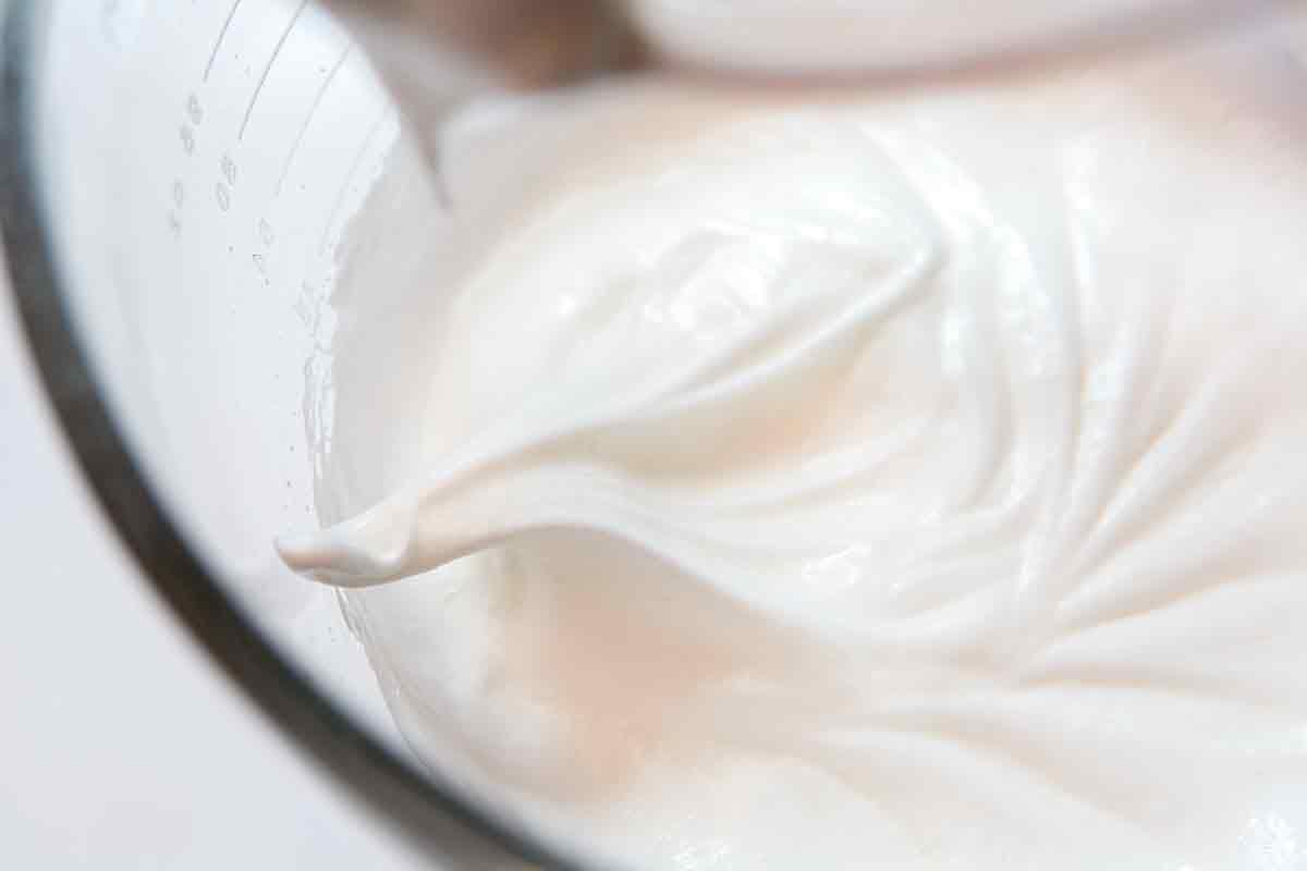 beat egg whites to soft peaks for flourless lemon almond cake