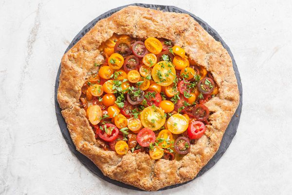 Tomato Galette with Whole Wheat Crust