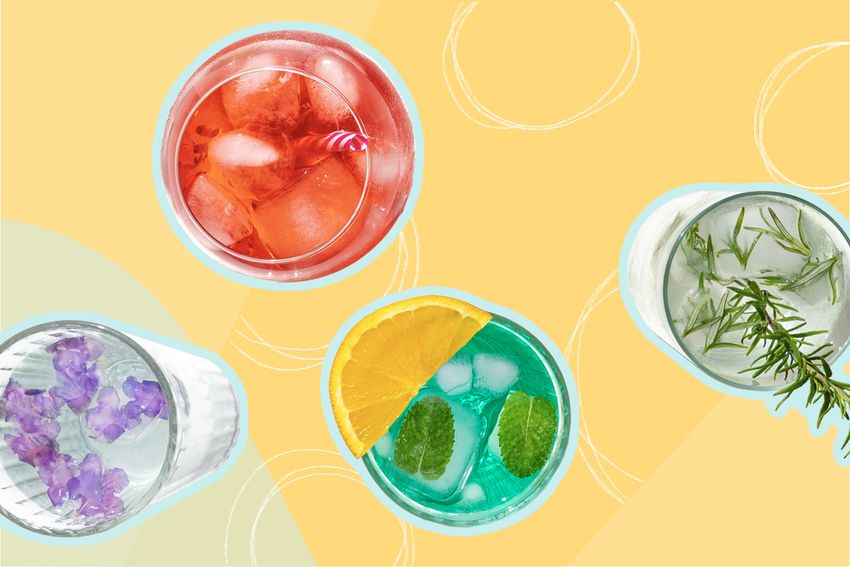 Photo composite of different cocktails