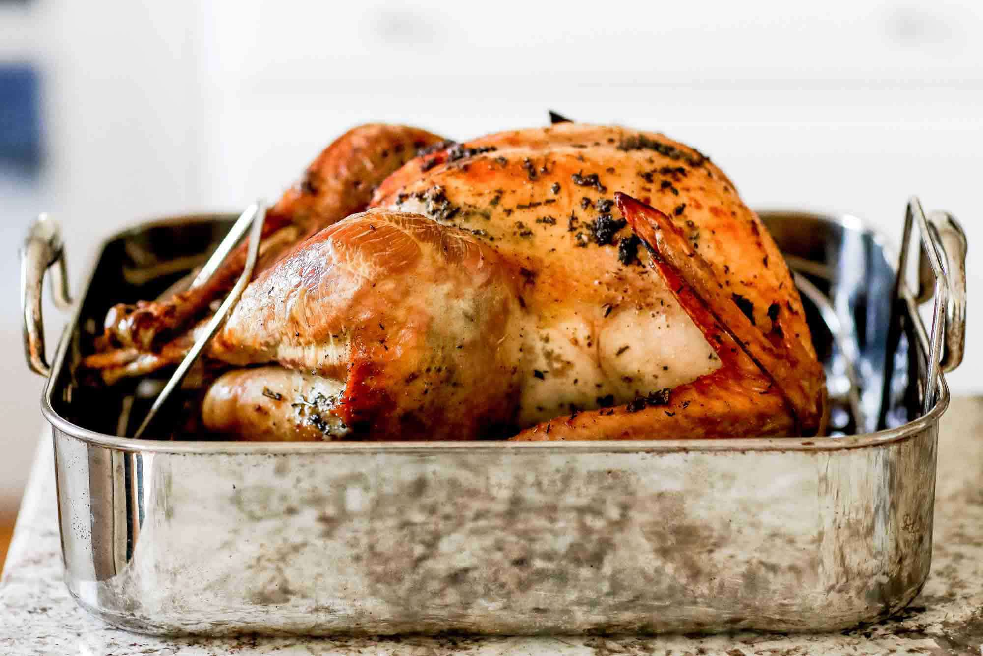 Best ever dry brined turkey after roasting