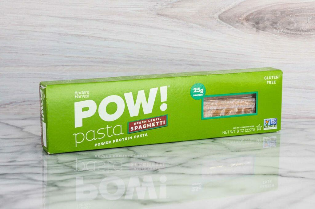 Pow green lentil gluten-free pasta spaghetti