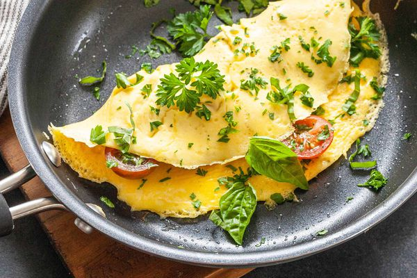 Easy homemade omelette recipe in a pan