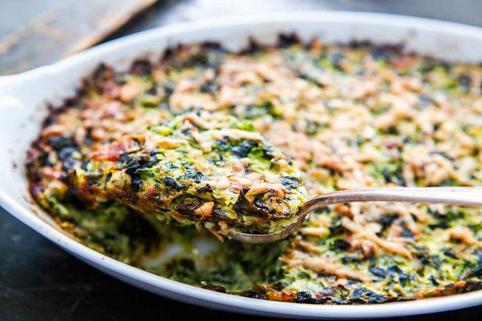 Zucchini Spinach Gratin