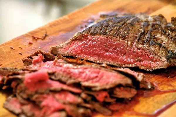 pan fried flank steak
