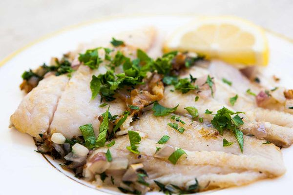 Petrale Sole in Herb Butter Sauce