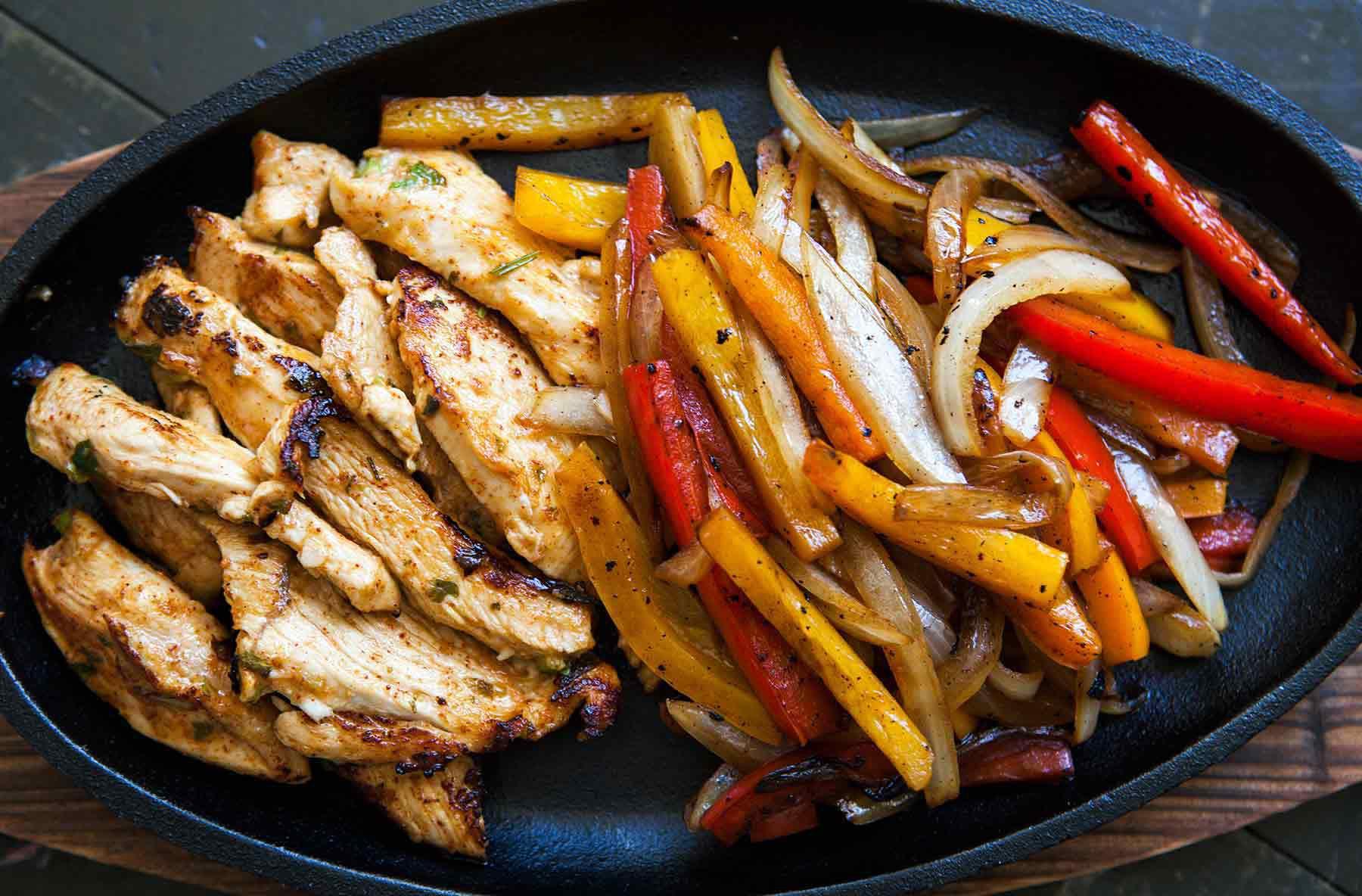 Chicken Fajitas Recipe {Homemade Marinade}