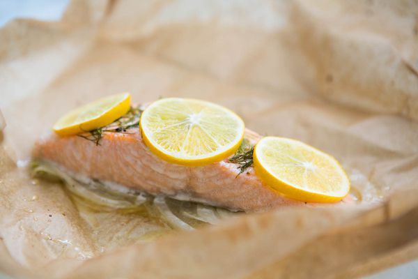 Salmon and Fennel Baked in Parchment