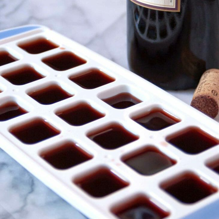 How Long Does it Take to Freeze Wine - red wine in ice cube tray