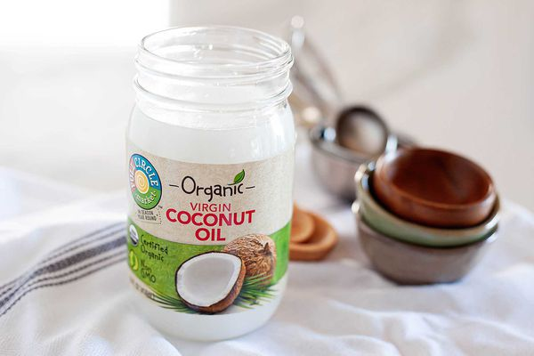 Jar of organic virgin coconut oil
