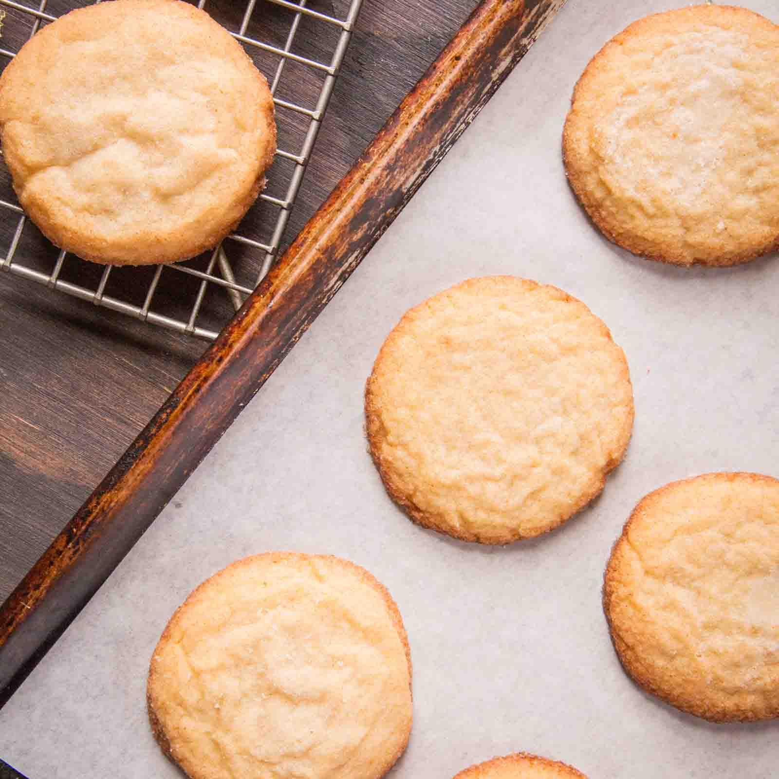 Soft Sugar Cookies on Mesh and Normal Baking Sheets