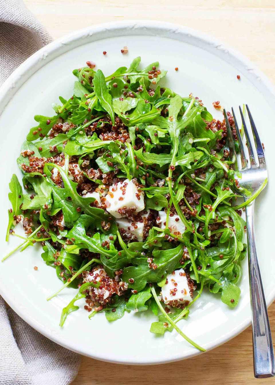 Quinoa Arugula Feta Salad