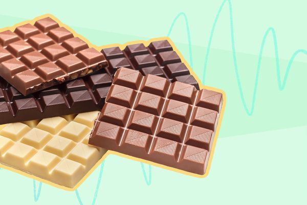 Photo composite of various chocolate bars