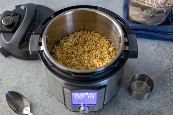 Cooked quinoa in Instant Pot