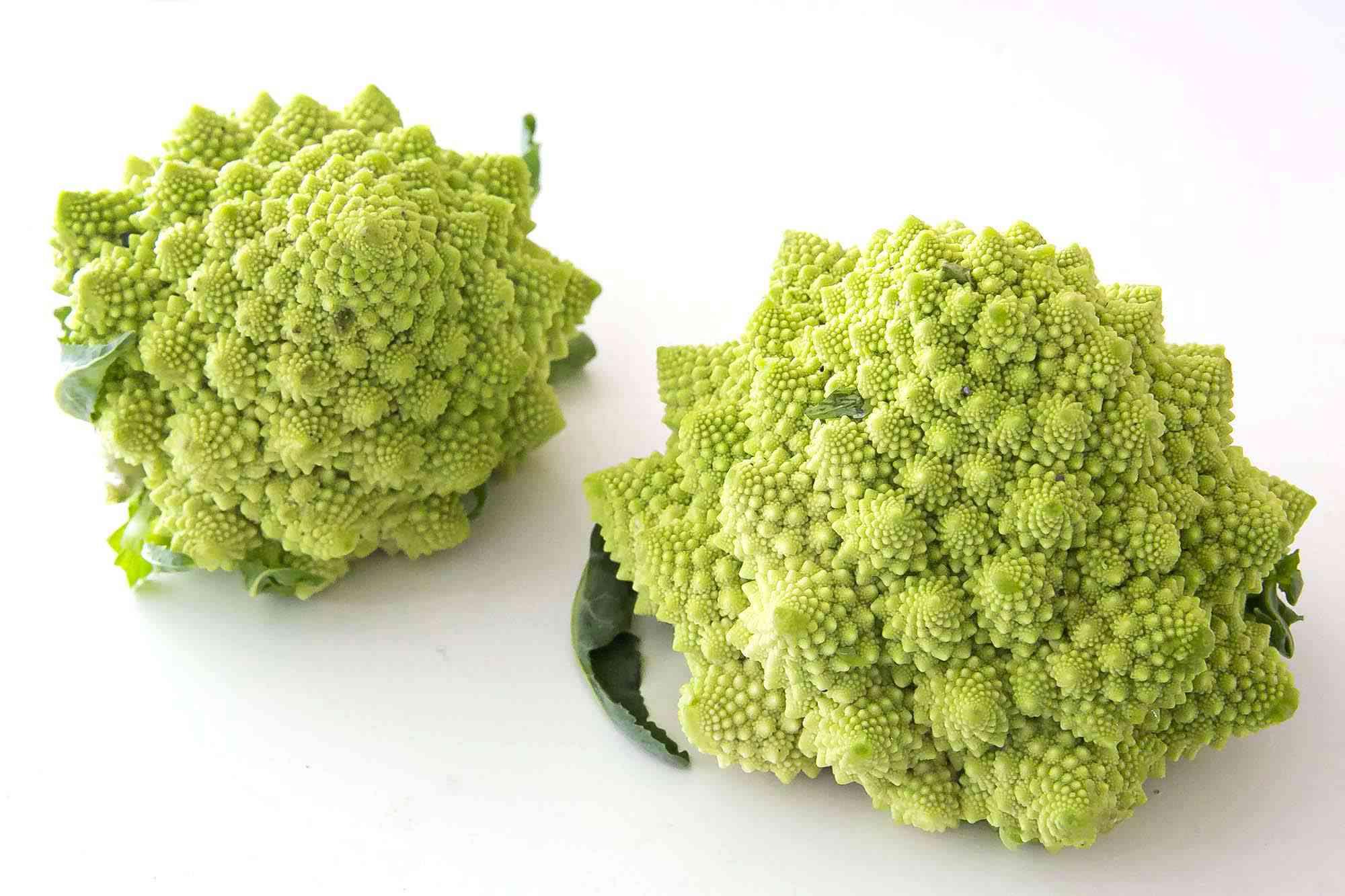 Romanesco cauliflower on a countertop