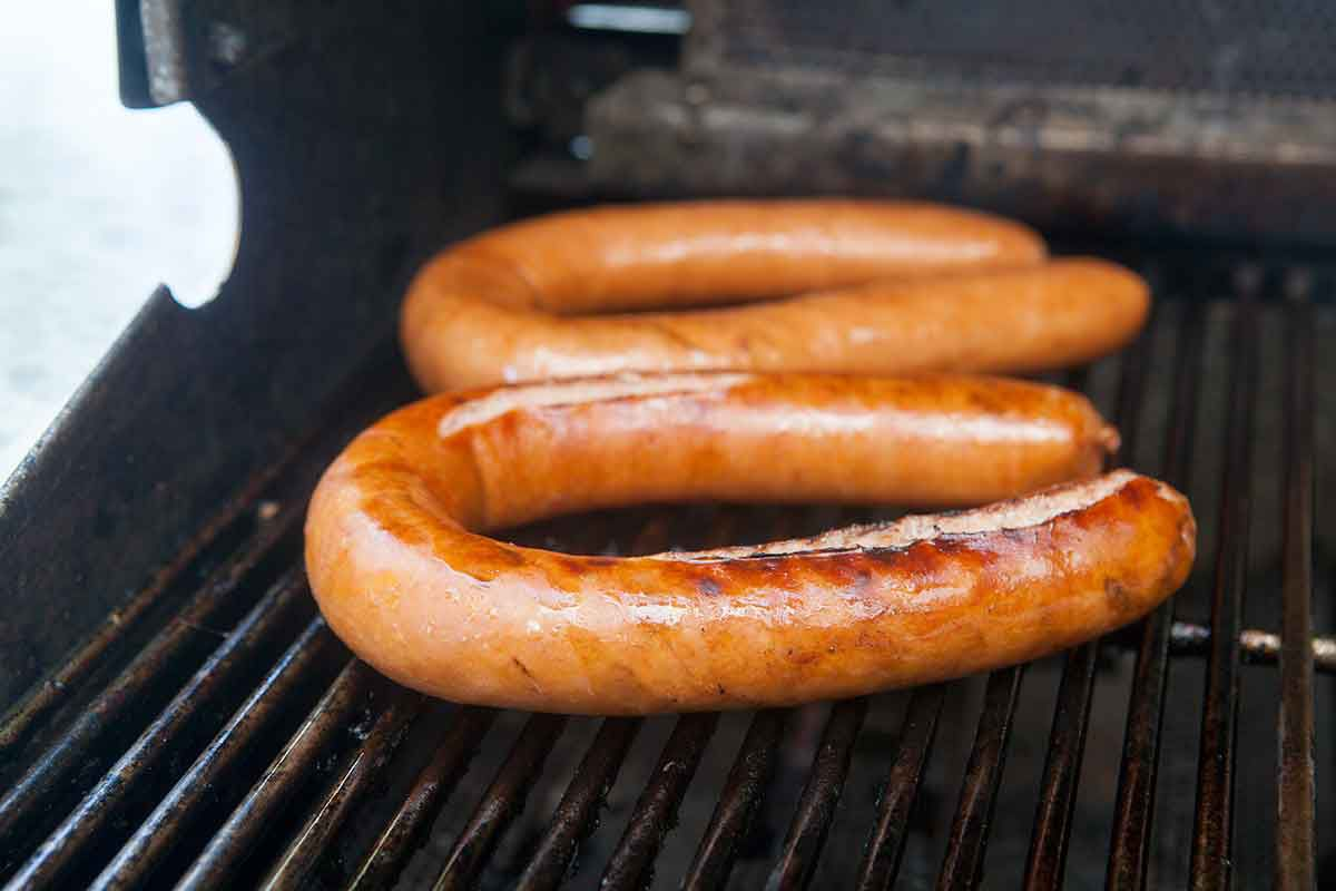 How to cook polish sausage on the grill