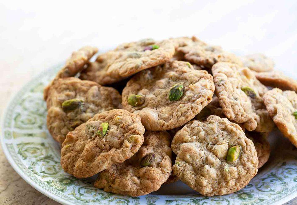 Pistachio White Chocolate Cookies