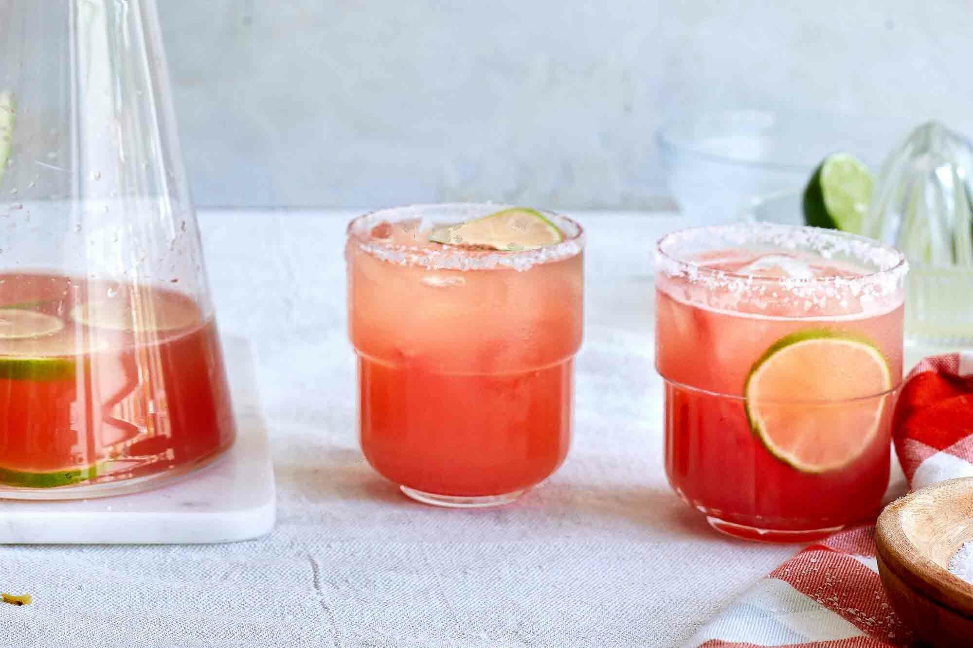Watermelon margaritas for a crowd