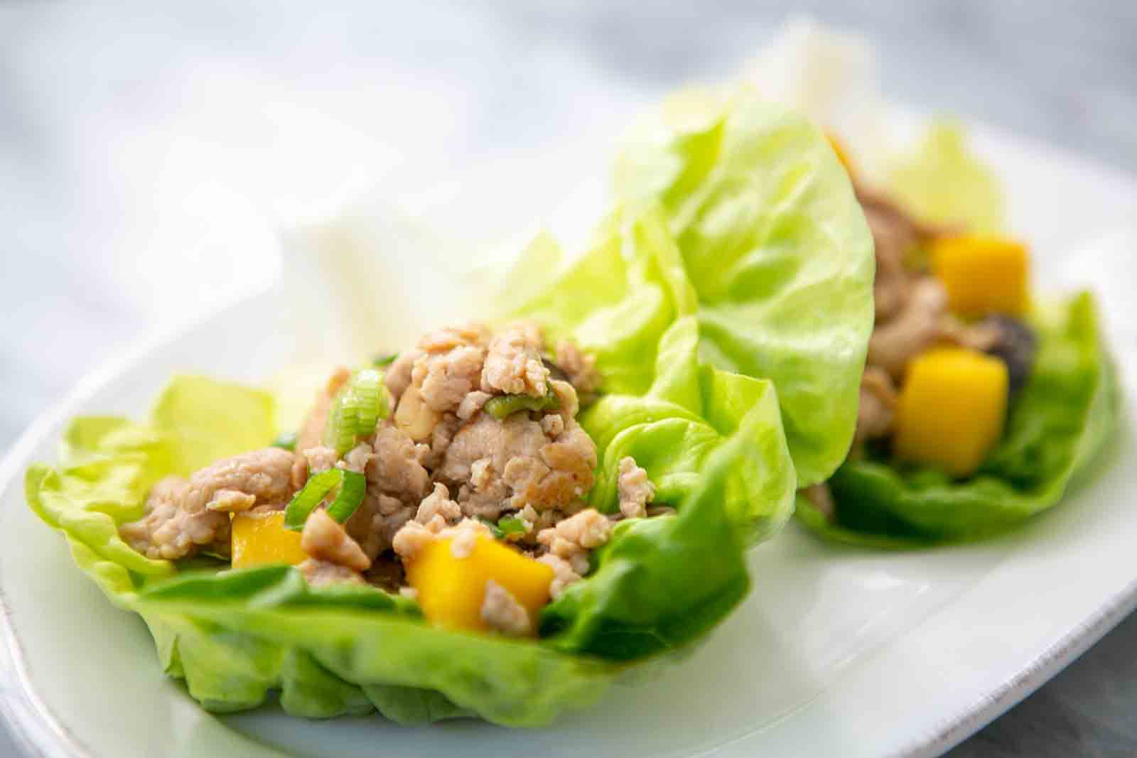 chicken mango lettuce wraps