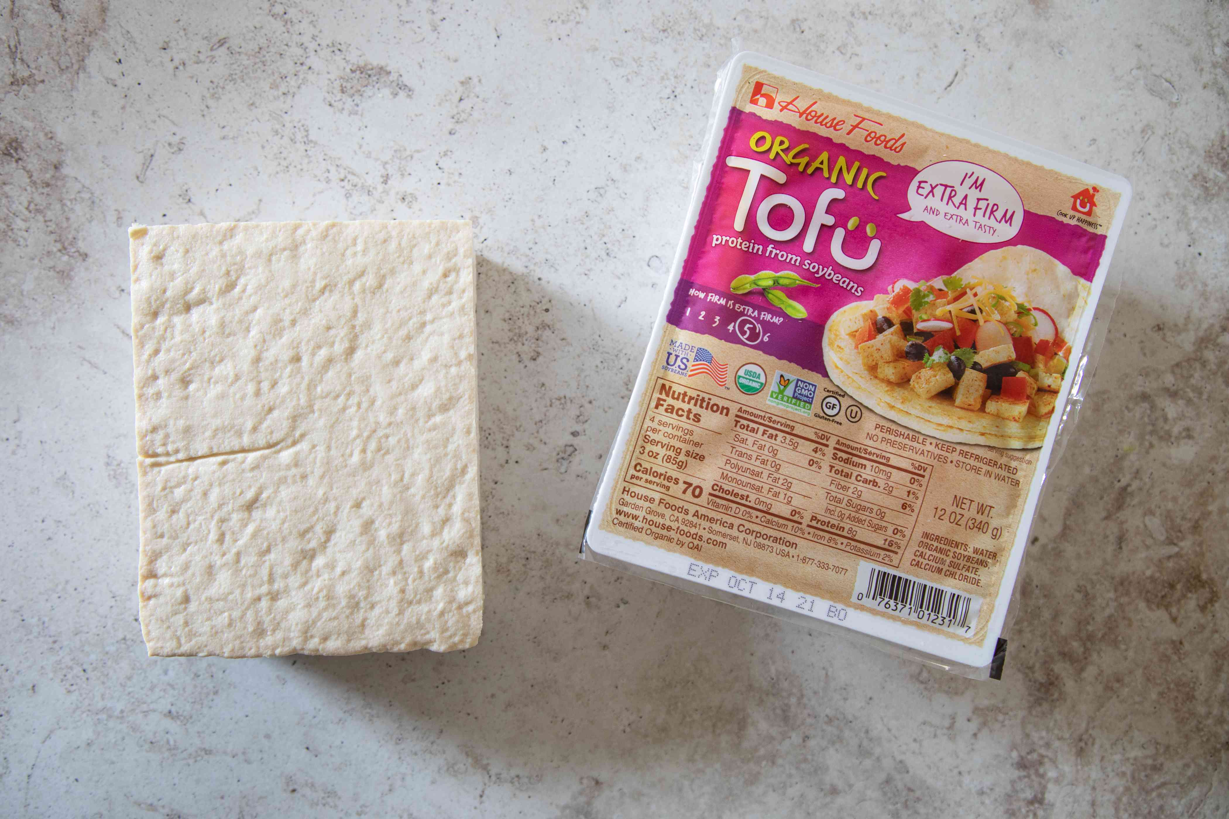 Package of extra firm tofu