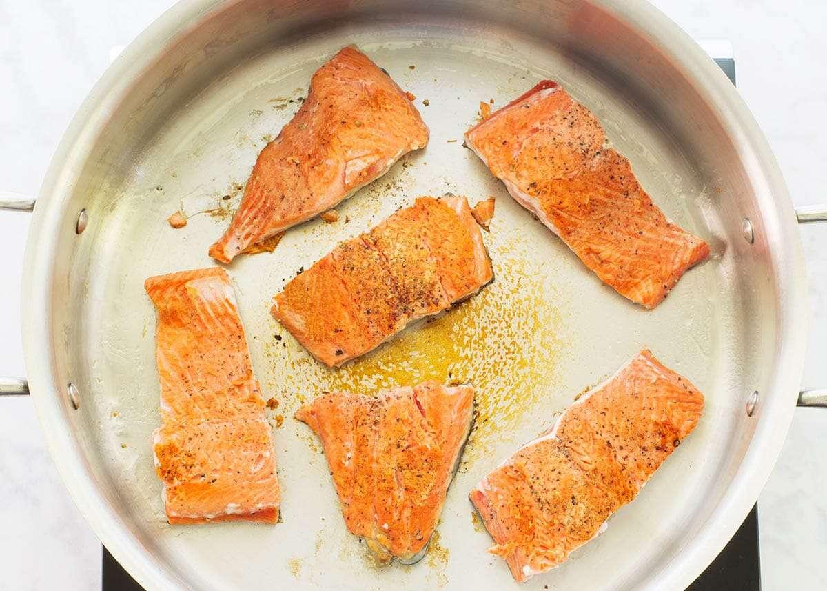 Angel Hair Pasta with Salmon Recipe flip the salmon