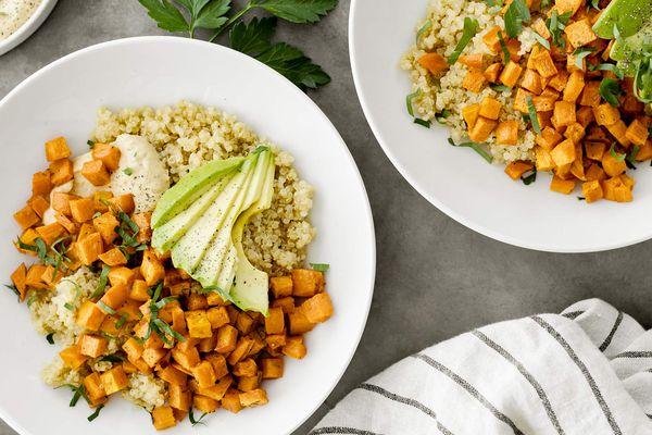 Quinoa bowl sweet potato