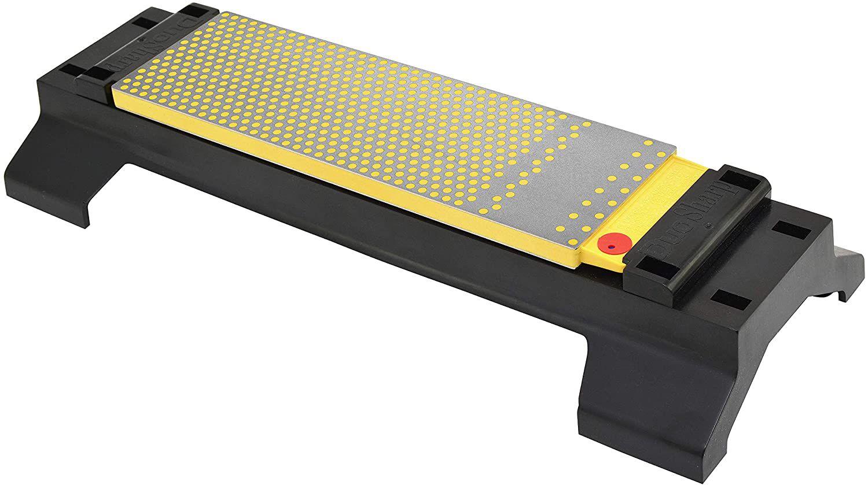 DMT 8-Inch DuoSharp Plus Bench Stone Fine/Coarse Sharpener with Base