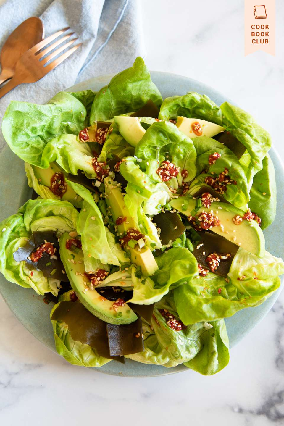 To Asia, With Love Seaweed Lettuce Salad in a bowl.