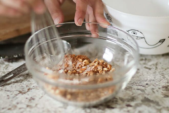 Whole Wheat Nut Muffins make the topping