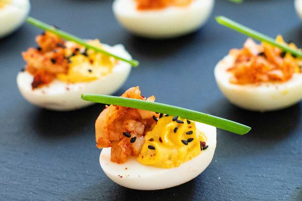 How to Make Deviled Eggs with Kimchi