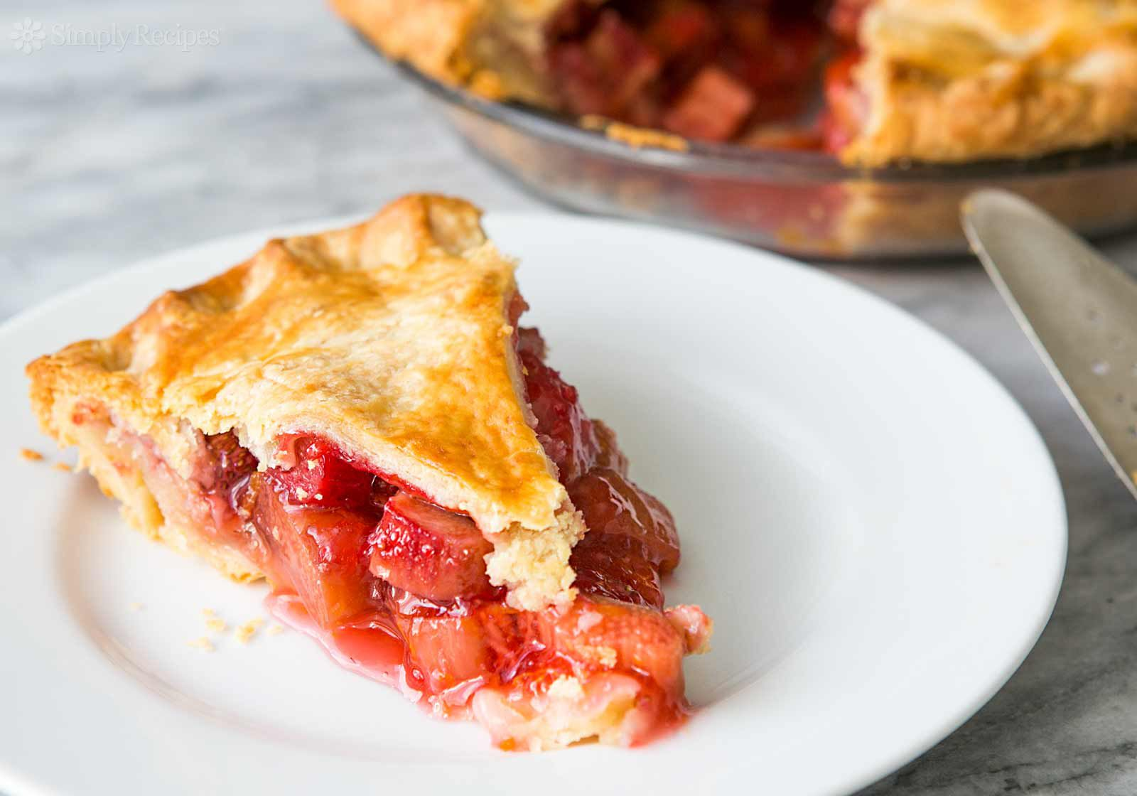 A perfect slice of the best Strawberry Rhubarb Pie