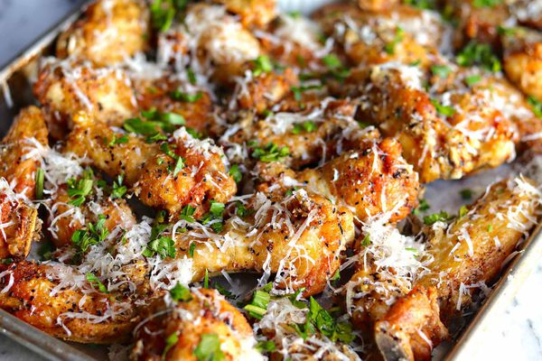 Parmesan and Pepper Fried Chicken Wings Recipe